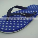 663 LOULUEN Custom EVA Rubber Slippers Man Beach Flip Flops PVC Upper