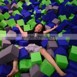 popular game Large outdoor trampolines with foam pit