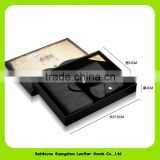 16014 Factory Supply Hot in Amazon OEM Bussiness Leather Gift Set Has Keyholder Wallet Card Holder