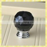 Black Diamond Crystal Mini Door Knobs For Cabinet Drawer Decoration