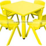 China Feiyou Factory School using moon shape table kids LLDPE plastic desk and chair, kindergarten furniture