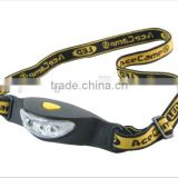 Super bright waterproof outdoor camping 2*CR2032 battery HeadLamp 3 Led Headlight flashlight