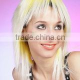 Wholesale Cheap Custume blonde synthetic party hair soccer wigs, football fans wig