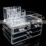 acrylic makeup storage cabinet/acrylic cosmetic lipstick drawer display/container store acrylic makeup organizer