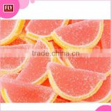 Hot Sale Bulk Packaging Grapefruit Candy , Fruit Flavor Slice Sugar Coated Jelly Candy