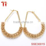 new fashion jewelry seduction ladies earrings designs pictures 316l stainless steel dubai gold jewelry earring