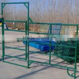 Cheap fence 6 or 5bar Galvanized PVC used horse fence panels,used wrought iron pipe cattle livestock fencing for farm
