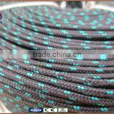 DOCK line|boat rope|High Quality 2mm-50mm| Pre-Spliced |Double braid nylon | black and green