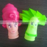Promotional PVC cartoon shape OEM finger baby bath toy