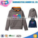 Boys Fleece Hoodie Custom Printed Logo Pullover Sweatshirts Jacket Classic Kangaroo Pocket Tracksuit Kids Wholesale Hoodies