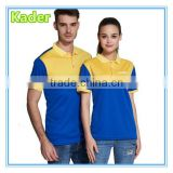 Embroidery two-tone polo shirt, t shirt manufacturers