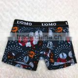 2015 wholesale mens custom boxer shorts/men's stylish printed sexy UOMO boxer underwear
