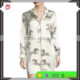 2017 wholesale China ladies pyjamas night shirts sleepwear pajamas women silk summer sleepshirt fancy sexy nightwear