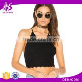 2018 Guangzhou Fashion New Arrival Summer Women 100% Cotton Sexy Style Halter Womens Tank Top