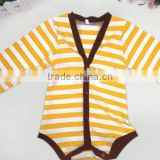 China Wholesale kids winter bodysuit baby boys striped romper toddler infant romper kids romper suit