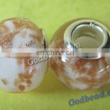 P96 beautiful glass bead wholesale handmade murano lampwork glass european beads fit for charm bracelets