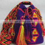 Navy Blue And Yellow Color Wayuu Bag