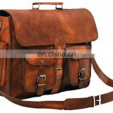 Indian Handmade Real goat Leather Men's Cross body bag Leather office sling bag Wholesale 2016