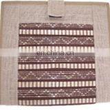 Office Organizer bamboo mat jute file document zipper folder bag