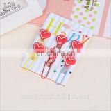 heart shapes custom soft pvc bookmark/rubber book marks with your own logo