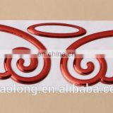 wholesale gold/silver color angel wing decoration self-adhesive PVC car body sticker,personality sticker for car