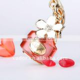 Novel fashion CRYSTAL KEYCHAIN crystal PERFUME BOTTLE key chain crystal key ring bag accessory 43053