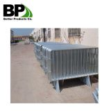 Galvanized steel pedestrian barrier gate