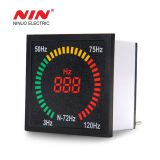 AC 220V 72mm*72mm box shape square indicator frequency meter with led