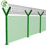 Ral 7016 painted 1.8m high clear vu fence for Messina South Africa
