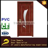 glass wood door for villa pvc bathroom door design