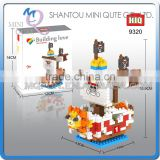 Mini Qute HIQ Anime One piece Thousand Sunny Going Merry pirate ship plastic building cartoon model educational toy NO.9320