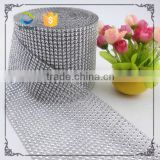Wedding Party Home Decoration Christmas Silver Rhinestone Diamond Mesh Wrap Rhinestone Ribbon