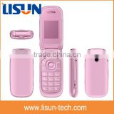 "hot selling 1.77"" quad band dual sim gsm gprs China flip mobile phone factory OEM price flip cell phone"
