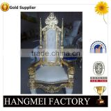 Hot Sale Antique Gold king Throne Chair