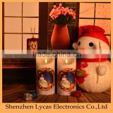 Christmas gift home decor wax battery operated candle led light