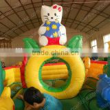 2014 hello kitty jumping bouncer small air house for kids