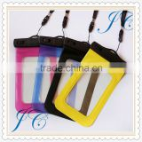 Promotional Gifts Mobile Phone Waterproof Bag with lanyard, Hot Selling PVC Waterproof Bag
