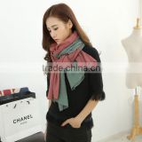 New Design Korean Girl Fashion Assorted Color Crumpled Wrinkle Cotton Woven scarf                                                                         Quality Choice