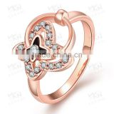 LKN18KRGPR715 Fake Jewelleries Tin Alloy 18K Rose Gold Plated Ring