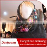 High quality fashionable voile both sides embroidered scarf shawl stylish muslim hijab                                                                         Quality Choice