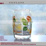 Christmas Printed water glass cup ; flower design;Christmas design of Glassware tumbler set
