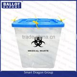 customized Plastic biohazard medical waste containers boxes