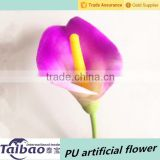 Wedding decoration wholesale purple real touch callas lilies flower