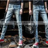 2015 China fashion man denim jean pants cheap price of denim trousers in garment factory