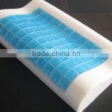 GP001 100% Polyurethane Visco Elastic Contour Cooling Memory Foam Gel Pillow