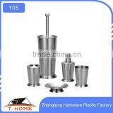 Stainless steel toothbrush holder bathroom set soap dispenser bathroom accessory