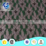 Warp knitted jacquard technics nylon polyester multicolor lace fabric for beautifu evening dress material