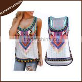 Women's new fashion ladies fancy sleeveless tops/