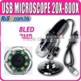 20x - 800x 2MP USB Digital Microscope Endoscope Video Camera Magnifier w/Driver