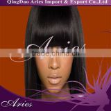 Hot Sell Brazilian Human Hair Front Lace Wigs With Bangs